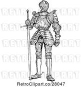 Vector Clip Art of Retro Suit of Armour by Prawny Vintage