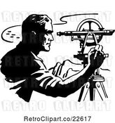 Vector Clip Art of Retro Surveyor by BestVector