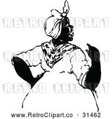 Vector Clip Art of Retro Talking Black Woman by Prawny Vintage