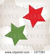 Vector Clip Art of Retro Tan, Red and Green Stars by Cherie Reve