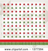 Vector Clip Art of Retro Tan, Red and Green Stars with Red and Green Lines by Cherie Reve