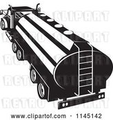 Vector Clip Art of Retro Tanker Oil Truck by Patrimonio