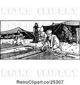 Vector Clip Art of Retro Tent Makers by Prawny Vintage