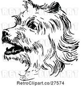 Vector Clip Art of Retro Terrier Dog by Prawny Vintage