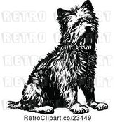 Vector Clip Art of Retro Terrier Dog Sitting by Prawny Vintage