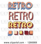 Vector Clip Art of Retro Text Designs by Vectorace