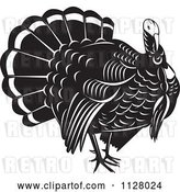Vector Clip Art of Retro Thanksgiving Turkey Bird by Patrimonio