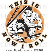 Vector Clip Art of Retro This Is How I Roll Text Around Boxers by Patrimonio
