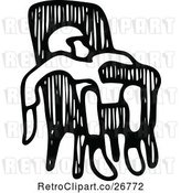 Vector Clip Art of Retro Tired Boy in a Chair by Prawny Vintage