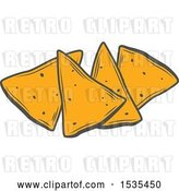 Vector Clip Art of Retro Tortilla Chips, in Style by Vector Tradition SM