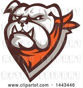Vector Clip Art of Retro Tough Bulldog Head with a Bandana by Patrimonio