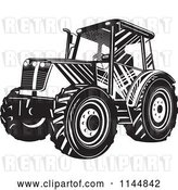 Vector Clip Art of Retro Tractor by Patrimonio