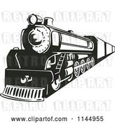 Vector Clip Art of Retro Train 3 by Patrimonio