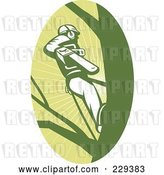 Vector Clip Art of Retro Tree Surgeon Logo by Patrimonio
