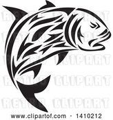 Vector Clip Art of Retro Tribal Art Style Giant Trevally Kingfish by Patrimonio