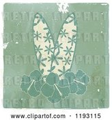 Vector Clip Art of Retro Tropical Surfboards and Hibiscus Flowers on Distressed Wood, with a White Border by Elaineitalia