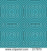 August 14th, 2018: Vector Clip Art of Retro Turquoise Burst Pattern Background by KJ Pargeter