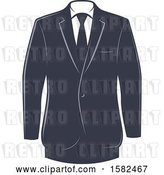 Vector Clip Art of Retro Tuxedo Design by Vector Tradition SM