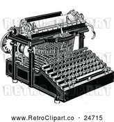 May 9th, 2018: Vector Clip Art of Retro Typewriter by Prawny Vintage