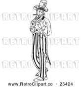 Vector Clip Art of Retro Uncle Sam by Prawny Vintage