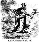 Vector Clip Art of Retro Uncle Sam Giving Aid by Prawny Vintage