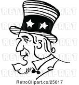 Vector Clip Art of Retro Uncle Sam Profile by Prawny Vintage