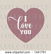 Vector Clip Art of Retro Valentines Day I Love You Heart on Polka Dots by KJ Pargeter