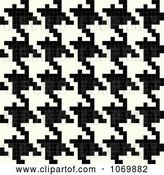 Vector Clip Art of Retro Vertical Seamless Houndstooth Pattern by Arena Creative