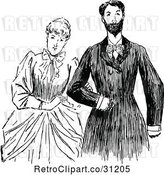 Vector Clip Art of Retro Victorian Couple 1 by Prawny Vintage