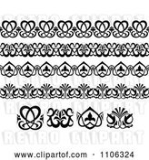 Vector Clip Art of Retro Victorian Floral Borders and Design Elements 1 by Vector Tradition SM