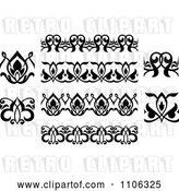 Vector Clip Art of Retro Victorian Floral Borders and Design Elements 2 by Vector Tradition SM