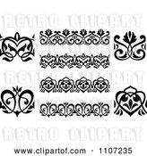 Vector Clip Art of Retro Victorian Floral Borders and Design Elements 3 by Vector Tradition SM