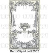 Vector Clip Art of Retro Victorian Frame with a Floral Urn by BestVector