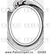 Vector Clip Art of Retro Victorian Oval Frame by BestVector