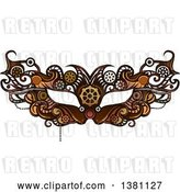 Vector Clip Art of Retro Victorian Steampunk Eye Mask by BNP Design Studio