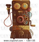 Vector Clip Art of Retro Victorian Steampunk Telephone by BNP Design Studio