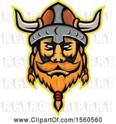 Vector Clip Art of Retro Viking Warrior Mascot by Patrimonio