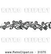 April 16th, 2018: Vector Clip Art of Retro Vine Border 1 by Prawny Vintage