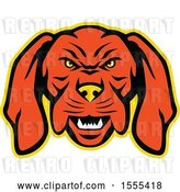 Vector Clip Art of Retro Vizsla Dog Mascot Head by Patrimonio