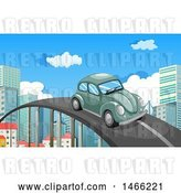 Vector Clip Art of Retro VW Slug Bug Car by Graphics RF