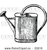 Vector Clip Art of Retro Watering Can by Prawny Vintage