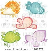 Vector Clip Art of Retro Weather and Ecology Frames by Amanda Kate