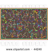 Vector Clip Art of Retro Website Background of Colorful Stars on Brown by Kaycee