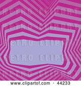 Vector Clip Art of Retro Website Background of Purple and Pink Lines Around a Text Box by Kaycee