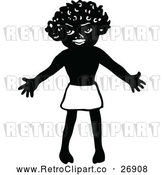Vector Clip Art of Retro Welcoming African Boy by Prawny Vintage