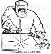Vector Clip Art of Retro Welder by BestVector