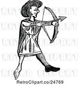 Vector Clip Art of Retro Welsh Archer by Prawny Vintage