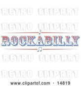 Vector Clip Art of Retro Western Rockabilly Music Sign by Andy Nortnik