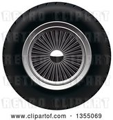 Vector Clip Art of Retro Wheel by Vectorace