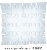 Vector Clip Art of Retro White Paper with Torn Edges by Cidepix